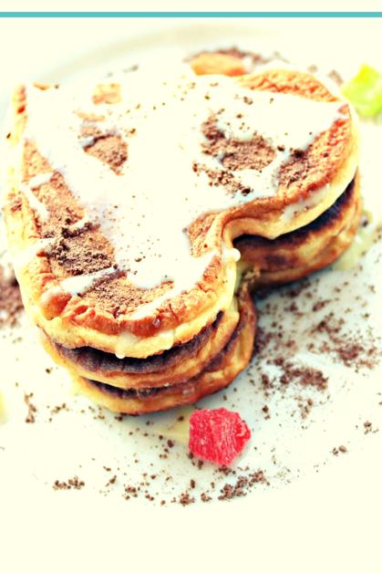 Almond pancake for valentine